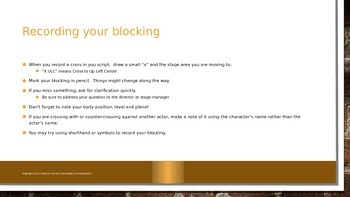 Blocking for the Actor