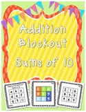 Blockout Sums of 10 {For Common Core Math Fluency} FREEBIE