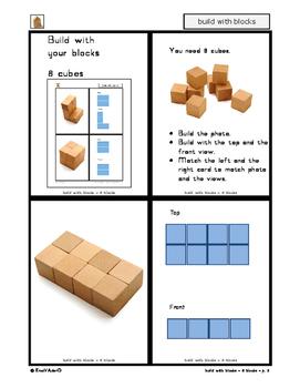 Blocks: Build with your blocks - 8 cubes - 3D