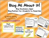 Blog All About It - Blog Vocabulary Posters and Activities