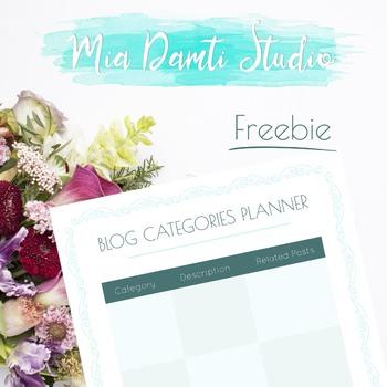Blog Categories Planner - Freebies by Mia Damti Studio