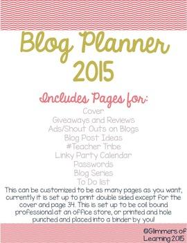 Blog Planner 2015