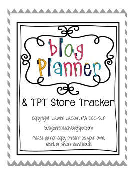 Blog Planner and TPT Store Tracker