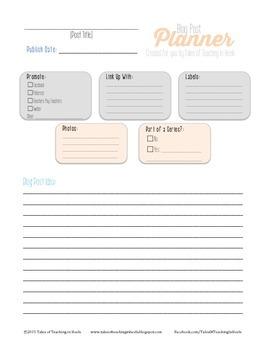 Blog Post Planner Template