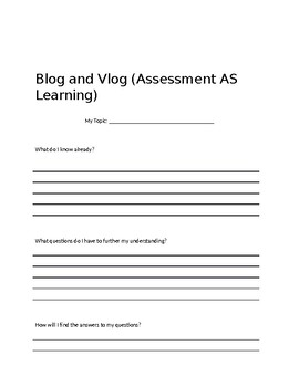 Blog and Vlog Assignment - Assessment AS, FOR and OF