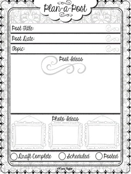 Blogger Planner / Binder  Excellent for New Bloggers!