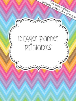 Blogger Planner Printables