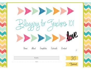 Blogger Template for Teachers Chevron