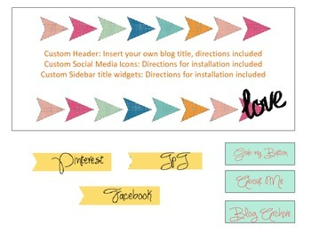 Blogger Template for Teachers Chevron