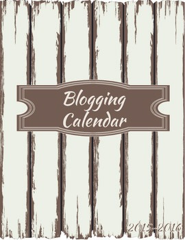 Blogger and TpT Calendar and Planner (Printables)