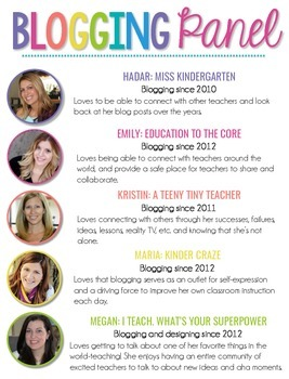 Blogging Panel Handout {Session TT13 & TT19}