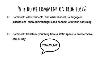 Blogging: Writing Quality Comments