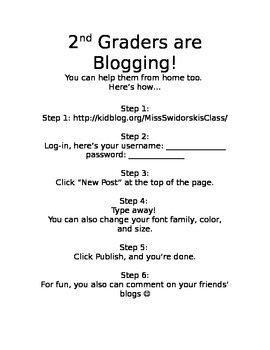 Blogging in Elementary (editable parent how-to note)