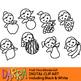 Blonde girls fruit time clipart (planner stickers clip art)
