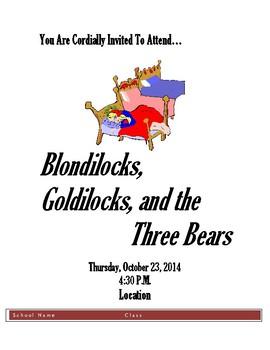 Blondilocks, Goldilocks, and The Three Bears Flyer