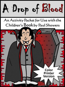 Halloween Reading Activities: A Drop of Blood Activity Packet