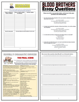 Blood Brothers Comprehension Activities Booklet!