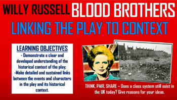 Blood Brothers - Linking the Play to Context