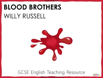 Blood Brothers teaching resources - Powerpoint and worksheets