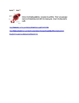 Blood Cell Interactives