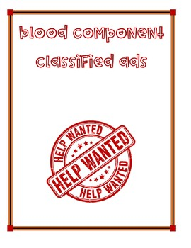 Blood Component Classified Ads