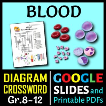 Blood Crossword with Diagram {Editable}