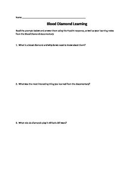 Blood Diamond Learning