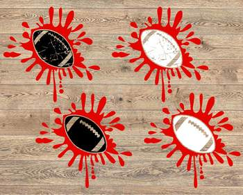 Blood Football svg Splash Splatter ink tackle Love valentine's day 1183S
