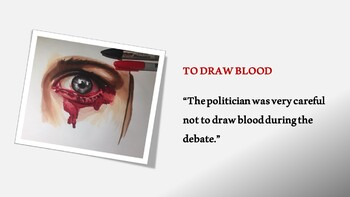 Blood Idioms PowerPoint