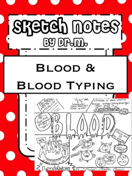 Blood & Blood Typing Sketch Notes Doodle Notes W/Teacher's Guide &Student Notes!