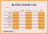 Blood Sugar Log