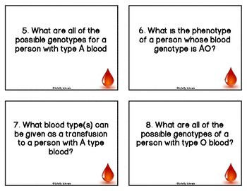 Forensic Blood Type Activity - Forensics Task Cards