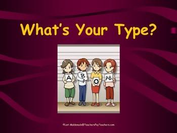 Cardiovascular System: Blood Types PowerPoint Presentation