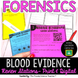 Blood Typing & Blood Spatter Review Stations [Forensics Activity]