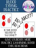 Blood Typing Practice Worksheet