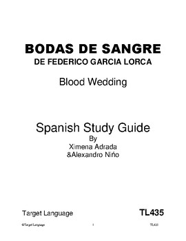 Blood Wedding-Spanish Study Guide
