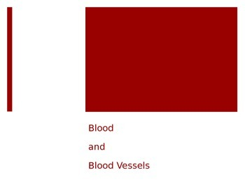 Blood and Blood Vessels PPT