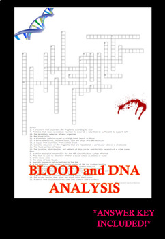 Forensic Blood and DNA Analysis Crossword Puzzle Review