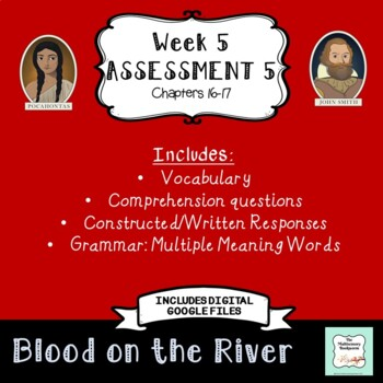 """Blood on the River Assessment 5: Chapters 16-17 """"Bookworms"""" Walpole & McKenna"""