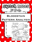 Bloodstain Pattern Analysis Sketch Notes W/Teacher's Guide & Student Notes!