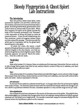 Bloody Fingerprints & Ghost Splort (Chemistry)