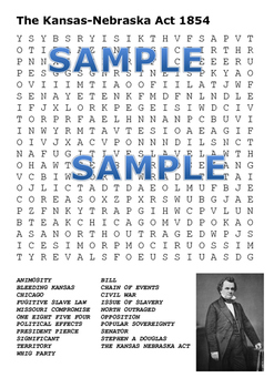 Bloody Kansas Word Search Pack