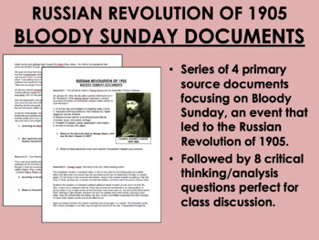 Bloody Sunday Documents - Russian Revolution of 1905