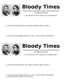 Bloody Times Mini-Quiz