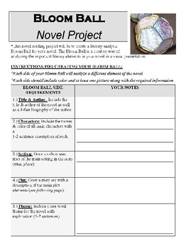 Bloom Ball Novel Analysis Project