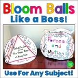 Bloom Ball Bloom's Taxonomy Critical Thinking Project