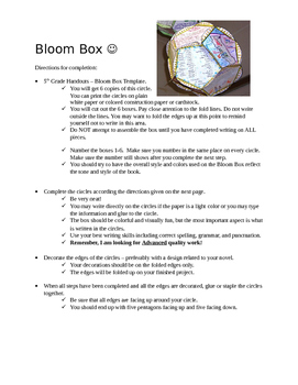 Bloom Box Point of View Levels Reading Activity