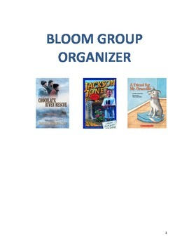 Bloom Group Guided Reading Organizer