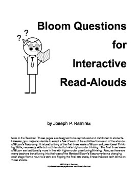 Bloom Questions for Interactive Read Alouds
