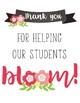 Bloom Teacher Thank You Sign